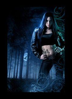 Tony Mauro art - Night Myst (Indigo Court, by Yasmine Galenorn Beautiful Fantasy Art, Dark Fantasy Art, Book Cover Art, Book Cover Design, Book Covers, Yasmine Galenorn, Book Cover Background, Fantasy Witch, Wolf Images