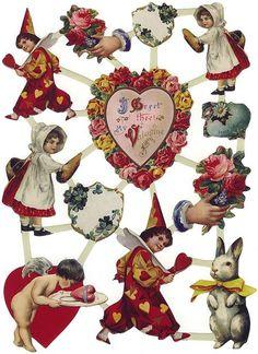 Valentine paper scraps from Holland