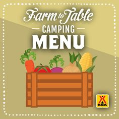 Take advantage of summer camping with a delicious weekend menu full of fresh seasonal fruit and veggies.
