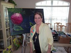 Donna Dewberry and her beautiful hydrangeas