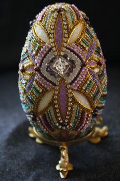 Beaded Goose Egg by darlene