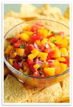 Peach Salsa by shewearsmanyhats #Appetizers #Peach #Salsa