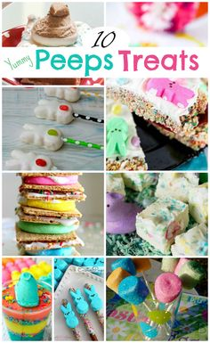 10 Easy Delicious and Fun Easter Peeps Treats Recipes What would Easter be without Peeps Treats? We look forward to that month or so before Easter when the Peeps hit the shelves. Easter Deserts, Easter Snacks, Easter Appetizers, Easter Peeps, Easter Treats, Easter Recipes, Easter Food, Happy Easter, Easter Dinner