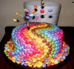 Idea for decorating a cake, simple and beautiful! #cake