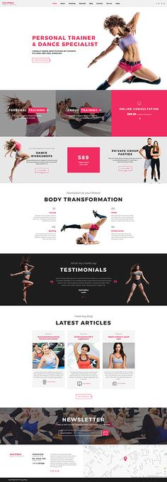 Jane O'Neal - Dance Studio Multipage Website Template