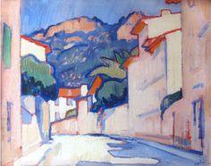 Samuel John Peploe R.S.A, 1871-1935, Street Scene, Cassis