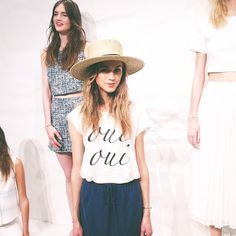 The perfect French girl ease at @joie_clothing spring '14 presentation. Just give us a baguette and the whole outfit! Taken by NYC con...