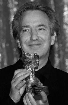 "Berlinale (1996)…Alan Rickman with Ang Lee's Goldener Bär (Berlinale, 1996) for ""Sense and Sensibility"""