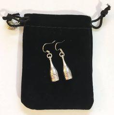 Wine Bottle Charms, Mini Wine Bottles, Gifts For Wine Lovers, Wine Gifts, Dainty Earrings, Dangle Earrings, Mother Gifts, Gifts For Mom, Meaningful Jewelry