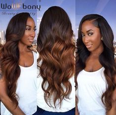 In Stock!! 4.5 Inch Deep Part Lace Front Wigs Ombre Color Thick Wavy Valentine's coupon: LOVE15 #ombre #lacefrontwig #deeppart #instock #wavy #bodywave #twotone #haircolor #WoWEbony