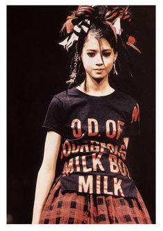 """マモルさんのツイート: """"1994…2008' model_吉川ひなの brand*MILK 13才の頃からMILK❤️…… """" Curly Hair Styles, Cute Outfits, Actresses, 1990s, Model, Milk, Clothes, Twitter, Tops"""