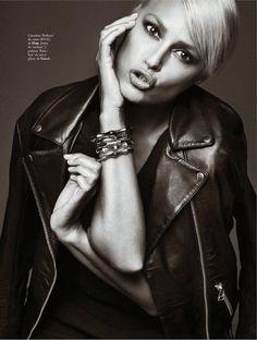 visual optimism; fashion editorials, shows, campaigns & more!: sexy & rock: yasmin le bon by xavi gordo for elle spain october 2013
