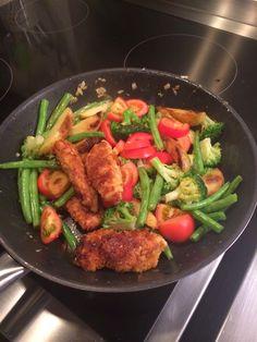 Hühnchen-Pfanne mit Gemüse