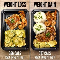 Weight Gain with Sweet Chili Chicken and Shrimp from The Meal Pr… - Weight Loss vs. Weight Gain with Sweet Chili Chicken and Shrimp from The Meal Prep Manual – E - Weight Gain Meals, Healthy Weight Gain, Weight Loss Snacks, Lose Weight, How Gain Weight, Recipes For Weight Loss, Lunch Meal Prep, Healthy Meal Prep, Healthy Eating