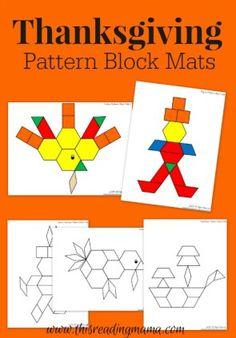 FREE Thanksgiving Pattern Block Mats This Reading Mama