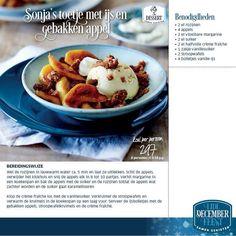 Heerlijk toetje met ijs en gebakken appel. www.sonjabakker.nl