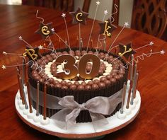 Chocolate 30th Birthday Cakes for Men