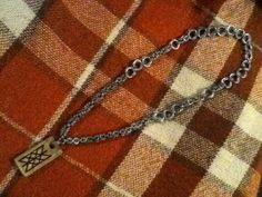 Hand made Runic Web of Wyrd chainmail necklace