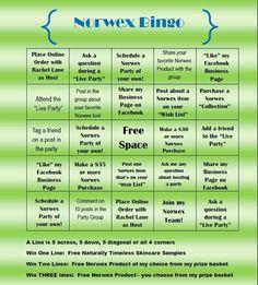 Norwex bingo