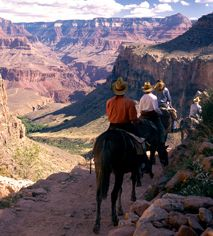 Phantom Ranch is only accessible by mule, by foot, or by rafting the Colorado River. It holds the distinction of being the only two places left in America whose mail is still delivered by mule.  Phantom Ranch. Grand Canyon National park, AZ. Historic Hotels of America.
