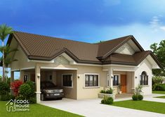 Bungalow house plans with detached garage with house floor plans and designs with grey craftsman house exterior and craftsman interior doors for sale Modern Bungalow House Plans, My House Plans, House Floor Plans, Build House, Barn House Design, One Storey House, Three Bedroom House Plan, Architectural House Plans, Interior Doors For Sale
