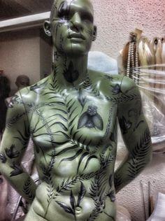 Mannequin statue bondage stories