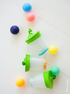 This DIY game is a simple and cheap way to keep your kiddos busy and active on long Summer days, when it feels like every other activity has been exhausted. Your littles will love launching ping-pong balls around the yard with their new Ping Pong Shooters,!