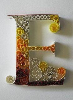 Алфавит в технике квиллинг