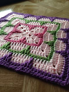 """Larksfoot Inspired 12"""" Granny Square ~ free pattern ᛡ"""