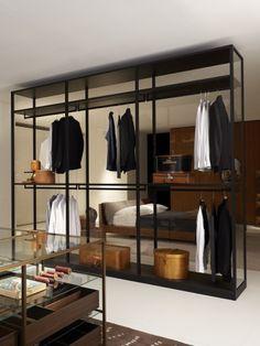 Un dressing élégant pour une chambre contemporaine