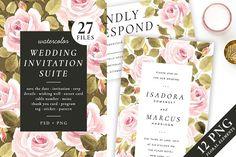 Roses – wedding set by Helen's shop on @creativemarket