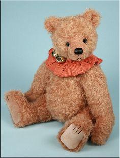 Bearing All 'Natty' was created by Paula Carter. www.allbear.co.uk #teddy #bear #artist