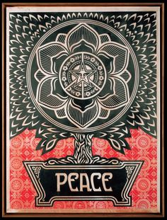 Obey - PEACE Lotus Flower
