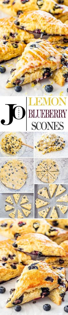 These Lemon Blueberry Scones are light and fluffy, sweet and tangy, but most of all, simply delicious. So easy to make, perfect for breakfast and a great Mother's Day treat. via Jo Cooks Sweet Desserts, Delicious Desserts, Yummy Food, Tasty, Yummy Eats, Brunch Recipes, Dessert Recipes, Brunch Ideas, Muffins