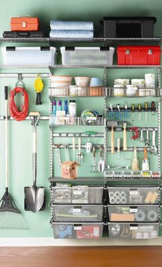 Garage Storage Ideas....use a  background color
