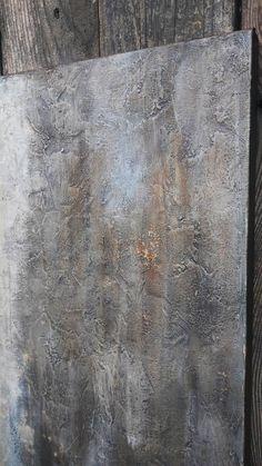 Neutral Minimalist Texture Painting Gray by AmyNealArtStudio