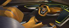 BMW i2 Concept - Interior Design Sketch