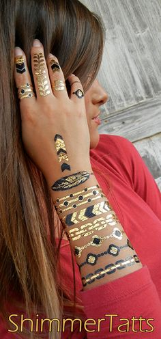 ShimmerTatts metallic tattoos are perfect stocking stuffer gifts for women of all ages! SHOP ShimmerTatts.com now! Just CLICK pic.