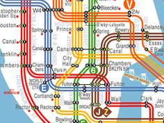 visualcomplexity.com | NYC Subway Map Redesign