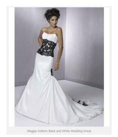 Maggie Sottero Black and White Wedding Dress 259x300 Maggie Sottero Black and White Wedding Dress