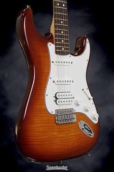 New Fender Standard Stratocaster HSS Plus Top (Tobacco Sunburst)