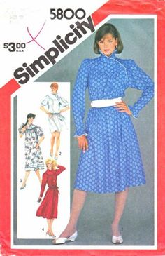 While it doesn't say on the pattern that this dress can be used for a maternity dress, it certainly looks as if there is enough room in front or you could add a few extra inches. Simplicity Sewing Pattern 5800 Misses Size 10 Long Short Sleeve Loose-fitting Dress