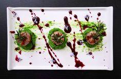 Sapori iblei - bocconcini di salsiccia su crema di senape canuta