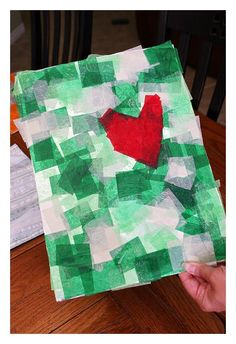 today's craft: tinfoil art (idea found here) what you need: * piece of cardboard * tinfoil (enough to cover cardboard) * sponge brush * tissue paper * glue * sequins and glitter step one: wrap foil around cardboard. step two: cut or tear several pieces of tissue paper. step three:water down your glue a little …