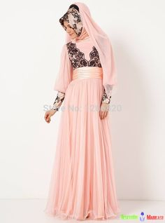 Find More Evening Dresses Information about 2014 New Arrival Famous Design Kaftan Dubai Fancy  Abaya Islamic Long Sleeve Pink Prom Dress Evening Dresses ,High Quality dresses for tall girls,China dress up coloring games Suppliers, Cheap dress long sleeve tunic dress from Sao Tome Garments Co., Ltd. on Aliexpress.com