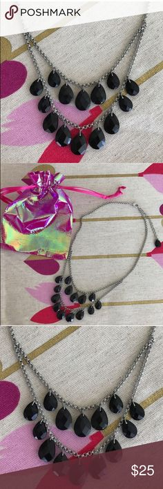 BLACK/SILVER STATEMENT NECKLACE Beautiful necklace! New in package. Beautiful onyx style stones. Dust bag included.                                                     💗Condition: New in package. Includes dustbag 💗No trades 💗No returns 💗No modeling  💗Shipping next day 💗All reasonable offers welcome 💗BUNDLE and save more Francesca's Collections Jewelry Necklaces