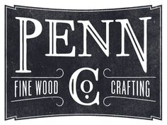 Penn Co. - Fine Wood Crafting by Kyle Anthony Miller | Love the simplicity and typeface pairing. Lovely lovely lovely.