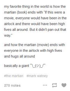 "Yeah, I feel like Drew Goddard was like, ""screw it, I LOVE irony. Best Of Tumblr, My Tumblr, The Martian Book, Funny Me, Hilarious, Drew Goddard, Andy Weir, Gallows, Book Fandoms"