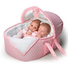 Waltraud Hanl Lifelike Lullaby Twins Baby Girl Doll Set Featuring Heather And Hannah by The Ashton-Drake Galleries Real Baby Dolls, Realistic Baby Dolls, Baby Girl Dolls, Newborn Baby Dolls, Reborn Baby Girl, Reborn Babies, Twin Baby Girls, Twin Babies, Baby Boy