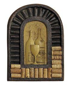 Love this Tuscan Wine Relief/Cork Display on #zulily! #zulilyfinds